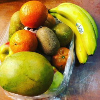 De fruittas van Sally. Boordevol vitaminen.